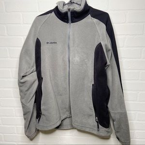 Men's Columbia fleece winter jacket gray black XL